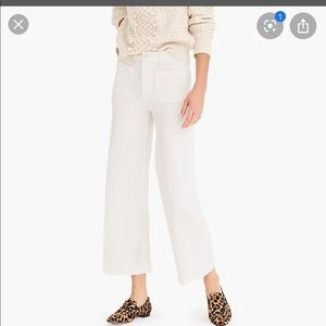 J. Crew wide leg cropped pants